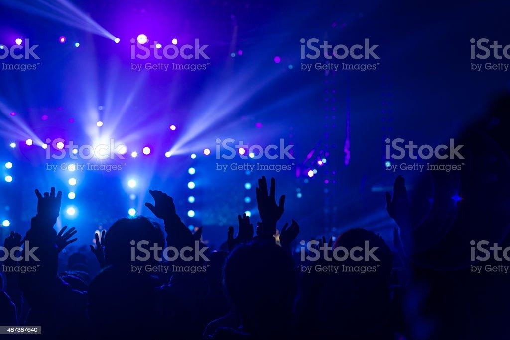 Hands on rock concert stock photo