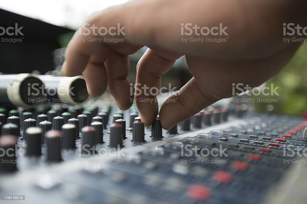 Hands on Soundboard royalty-free stock photo
