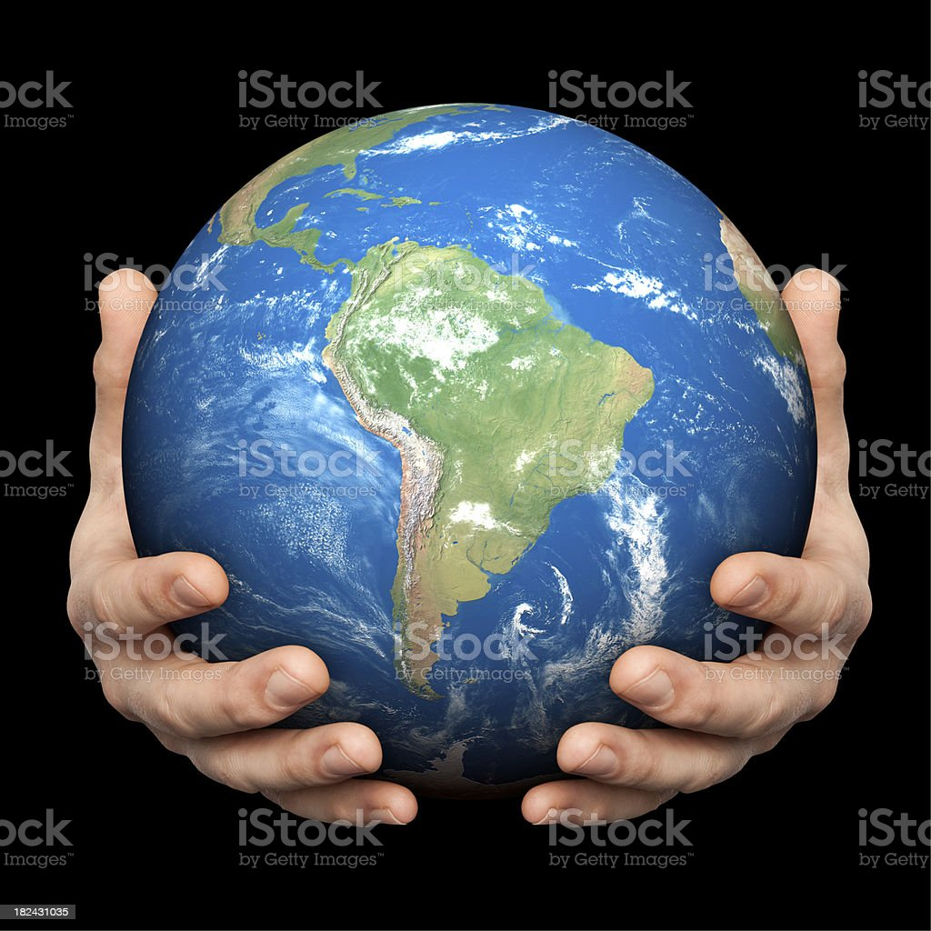 Hands On South America stock photo