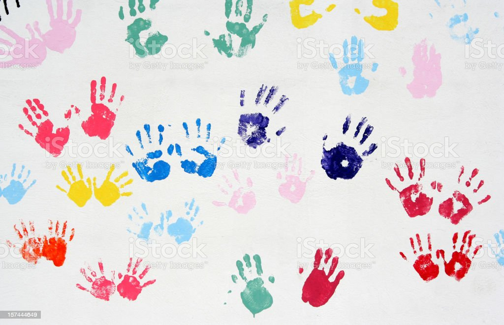 Hands on the wall royalty-free stock photo