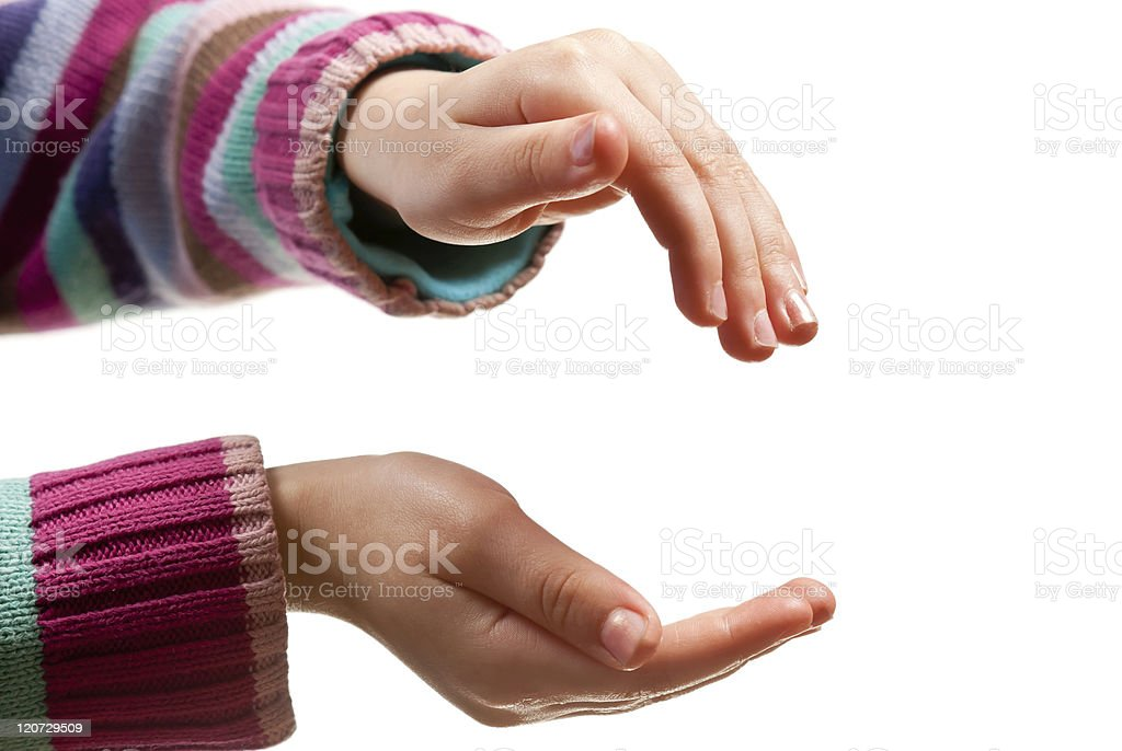 Hands open royalty-free stock photo