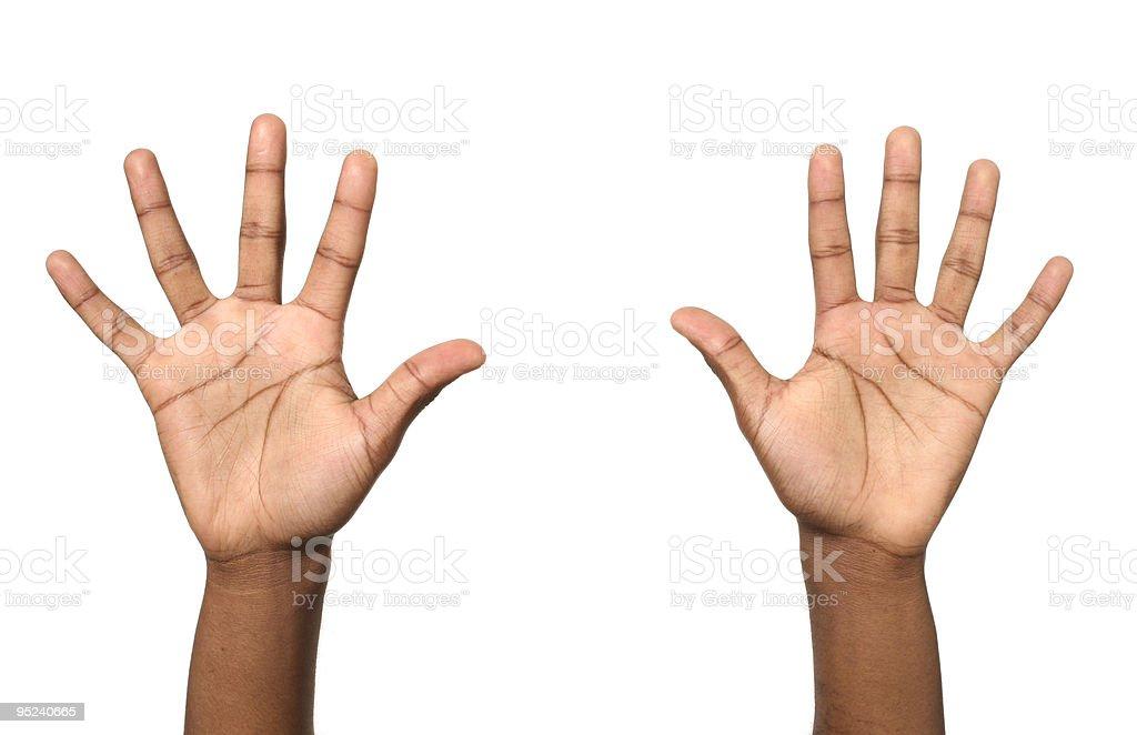 hands open stock photo