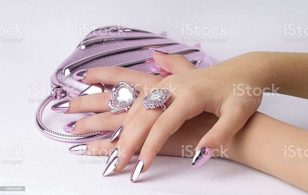 hands over bag royalty-free stock photo