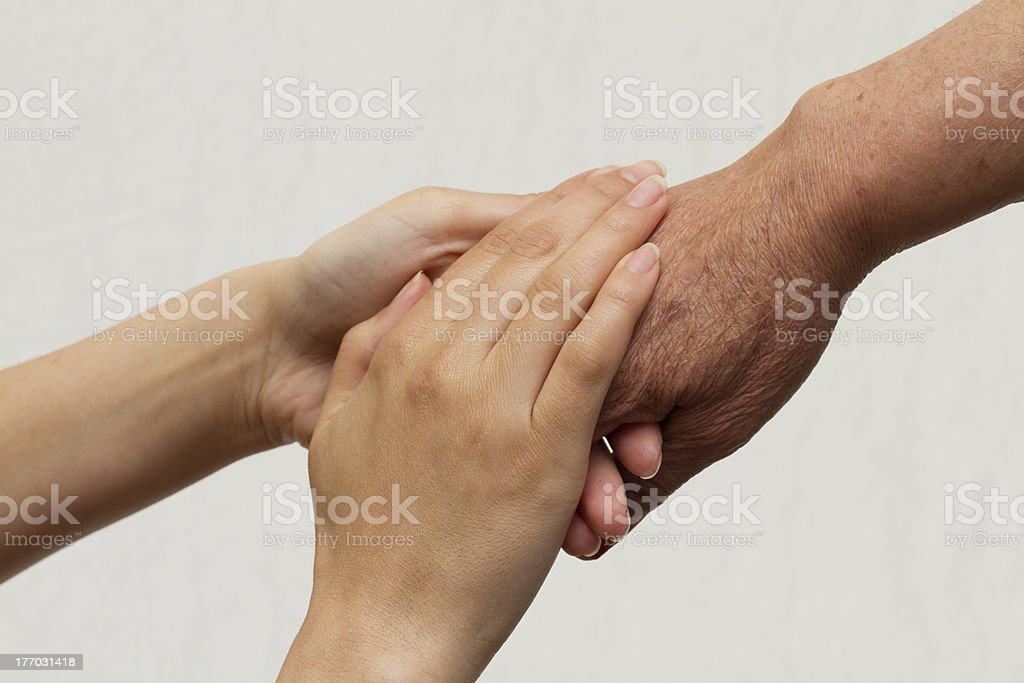 Hands over hand royalty-free stock photo