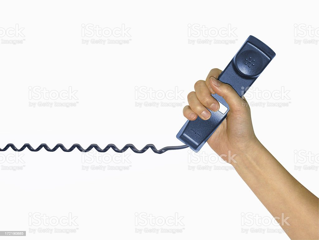 hands: phone call royalty-free stock photo