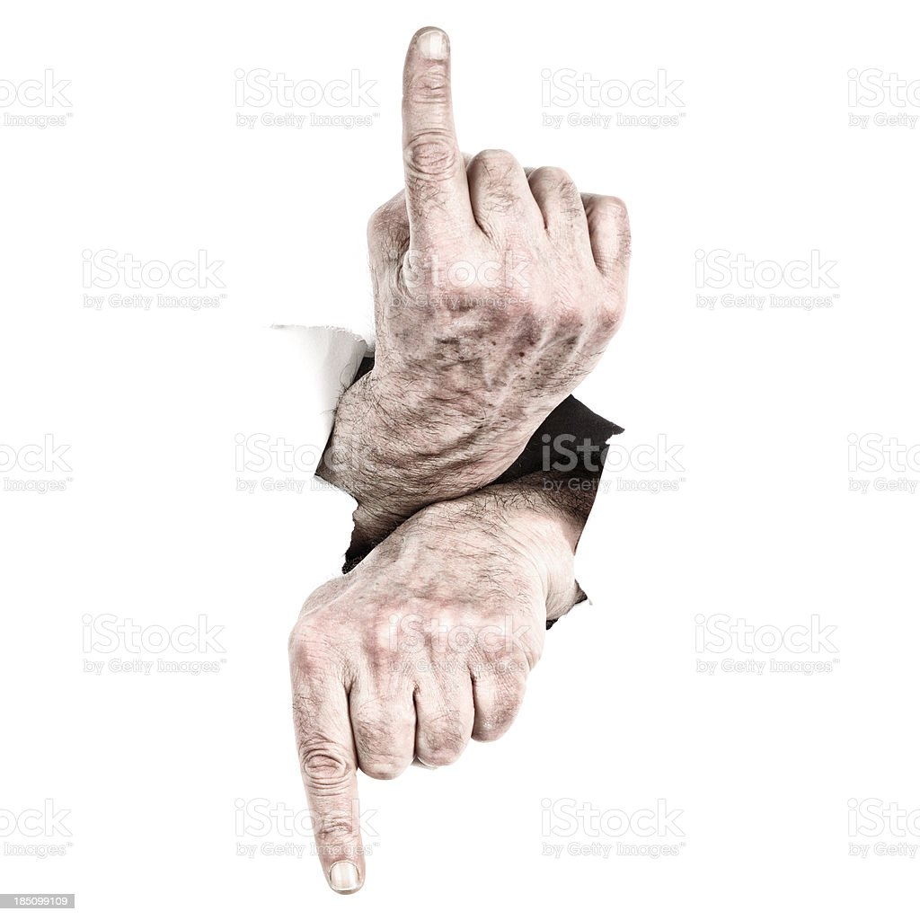 Hands Pointing royalty-free stock photo