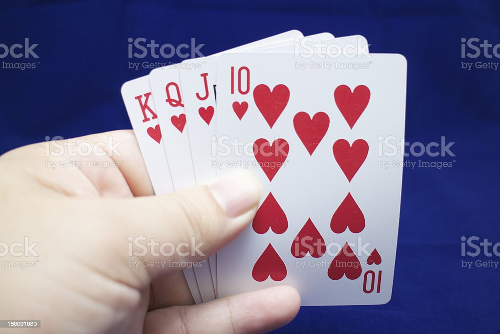 Hands poker royalty-free stock photo
