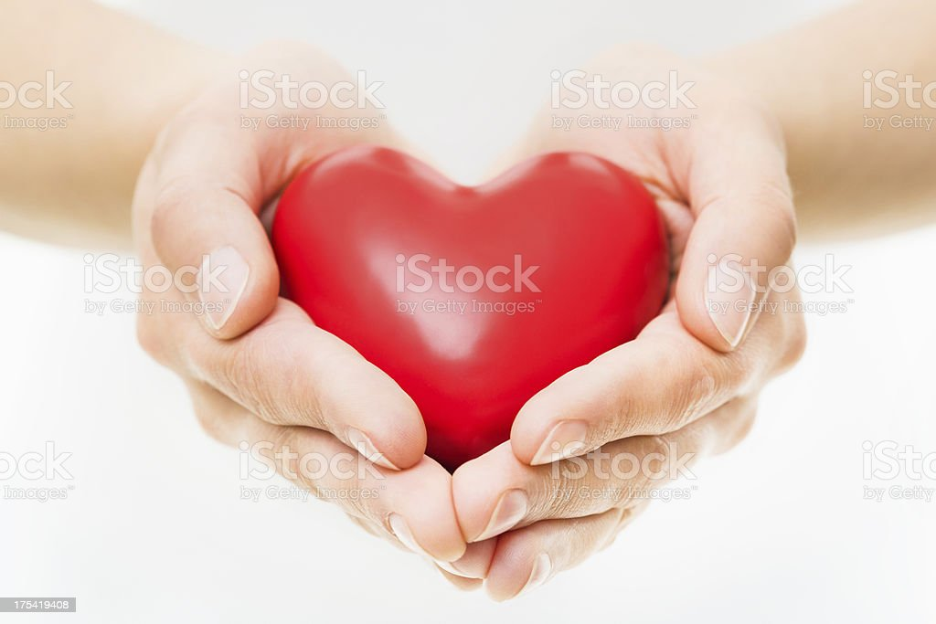 Hands Presenting Heart royalty-free stock photo