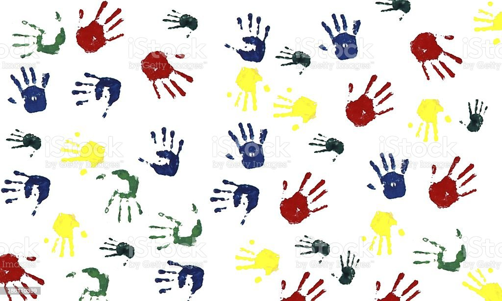 Hands print royalty-free stock photo