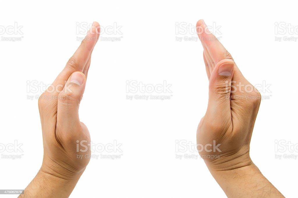 hands protecting stock photo