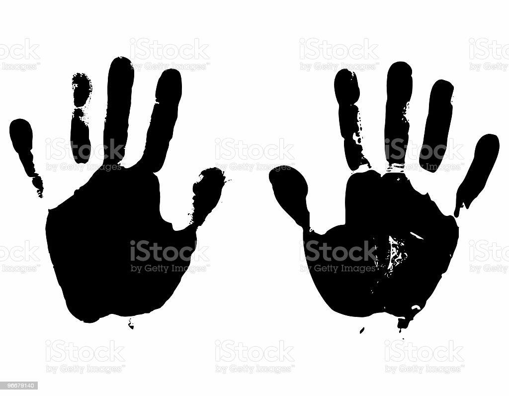 Hands rasterized vector illustration stock photo