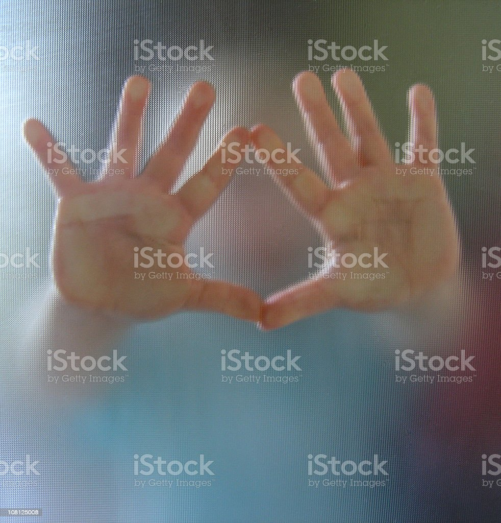 Hands reaching out from a blurred image of a child royalty-free stock photo