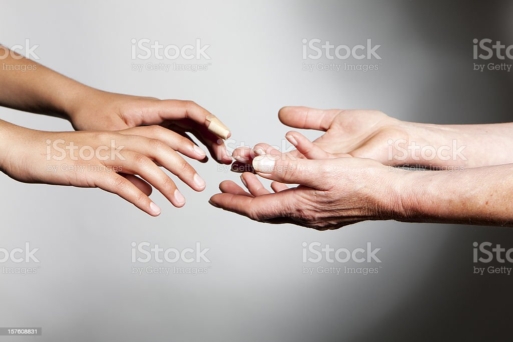 hands: reaching out royalty-free stock photo