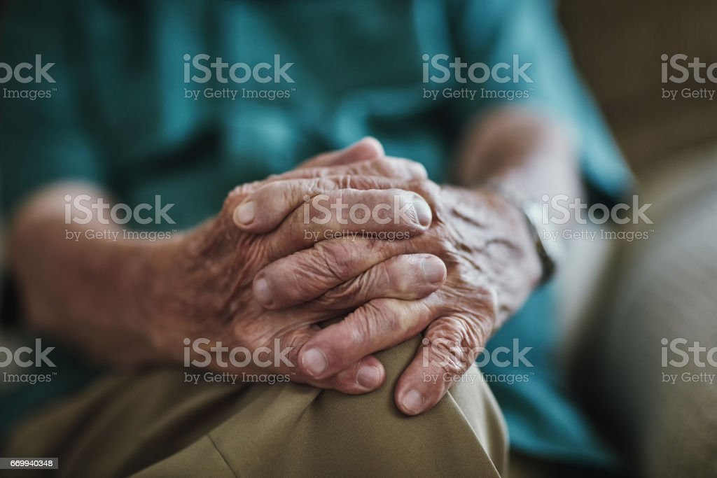 Hands really do tell a story stock photo