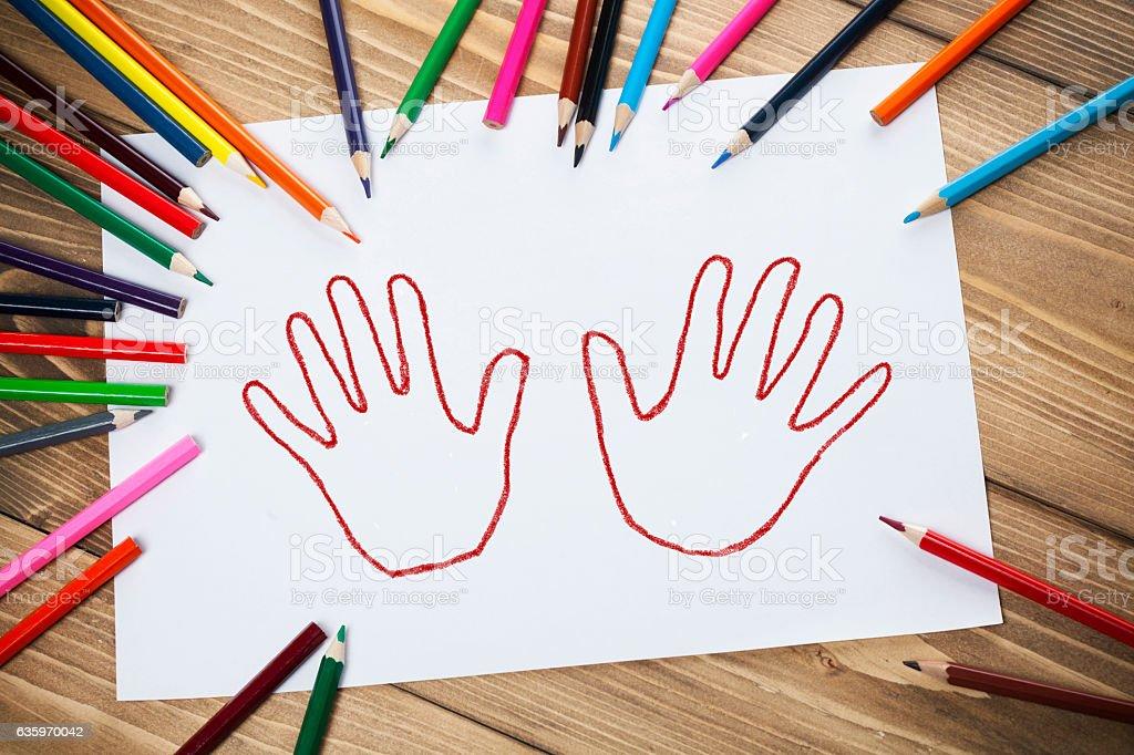 Hands shape stock photo