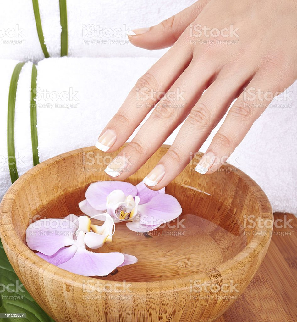 Hands Spa royalty-free stock photo