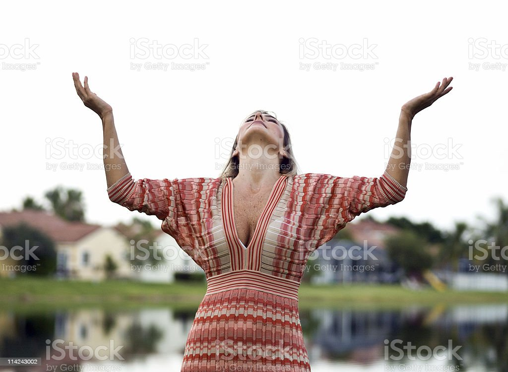Hands to Heaven royalty-free stock photo