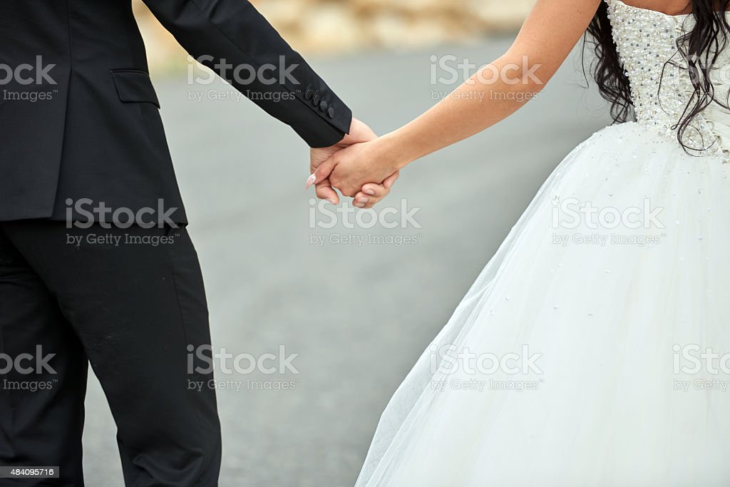 hands together forever stock photo