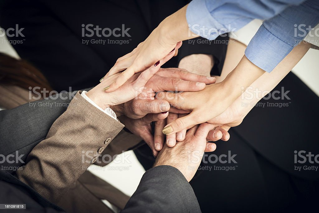 Hands together royalty-free stock photo