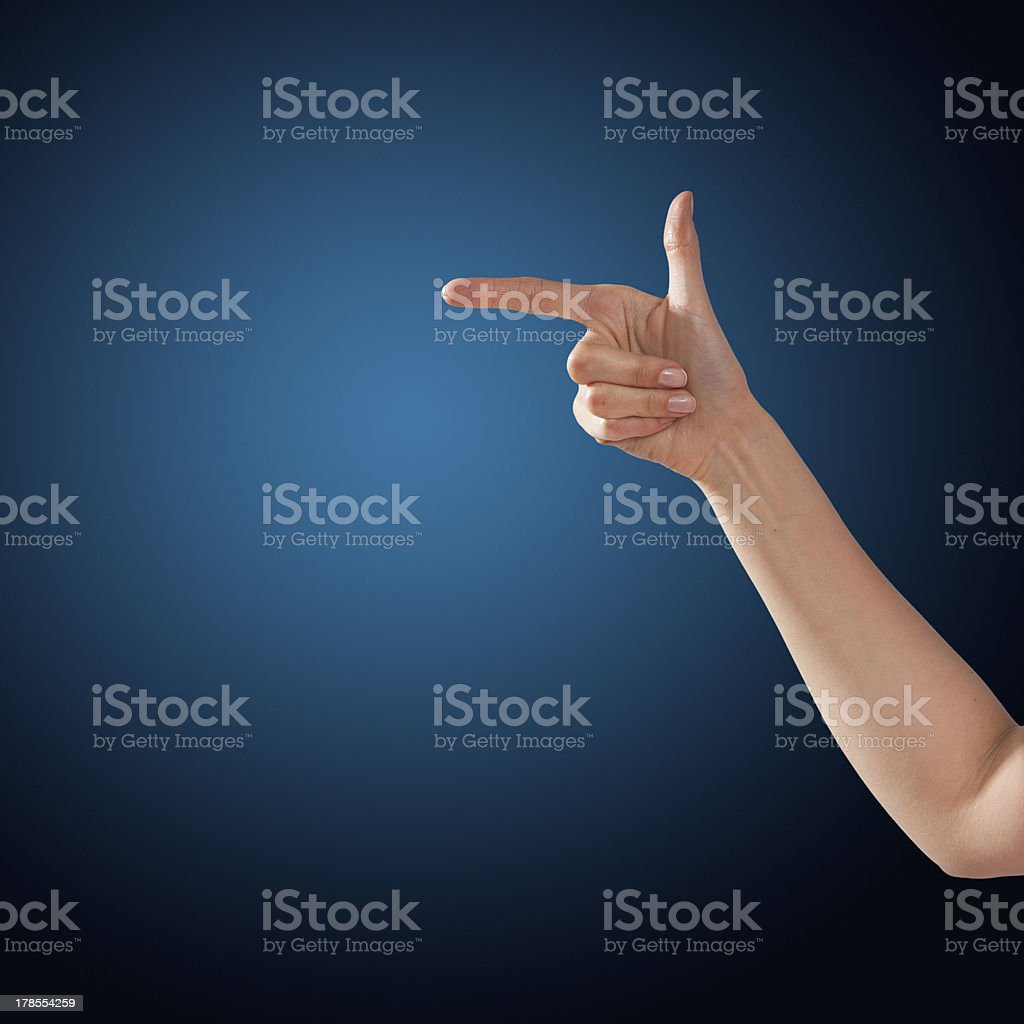hands touch or click to something royalty-free stock photo