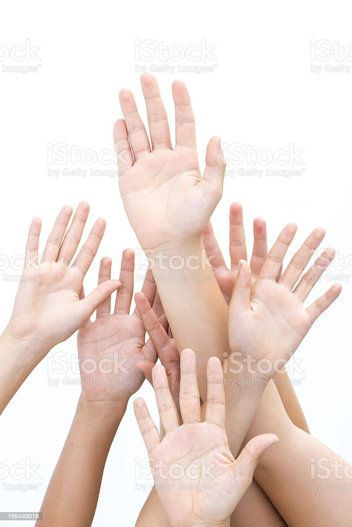 Hands united for teamwork royalty-free stock photo
