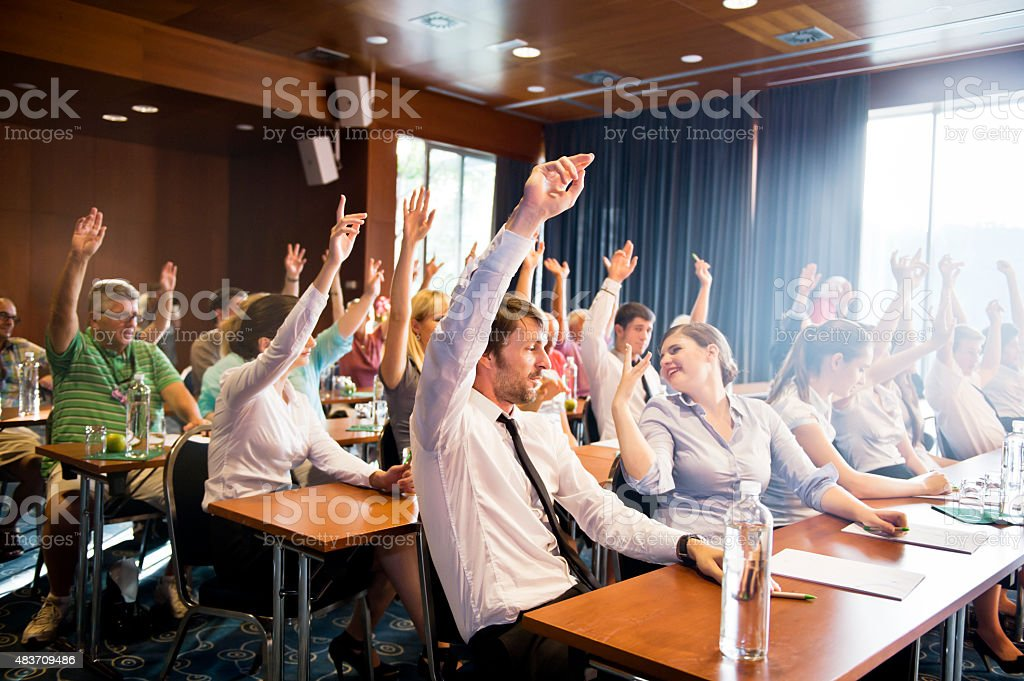 Hands Up stock photo