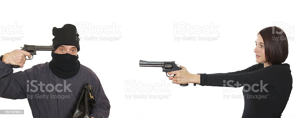 hands up this is a robbery, before suicide stock photo