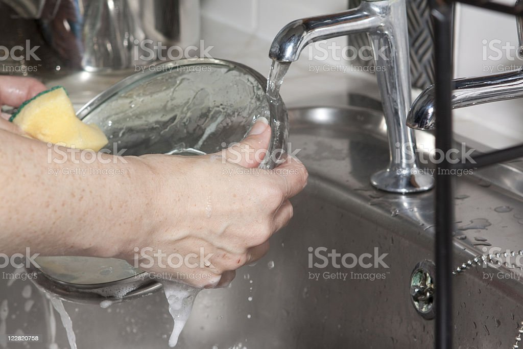 Hands Washing Up royalty-free stock photo