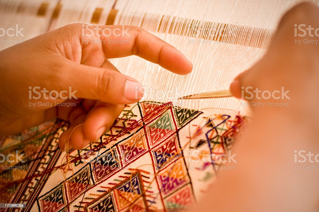 hands weaving royalty-free stock photo