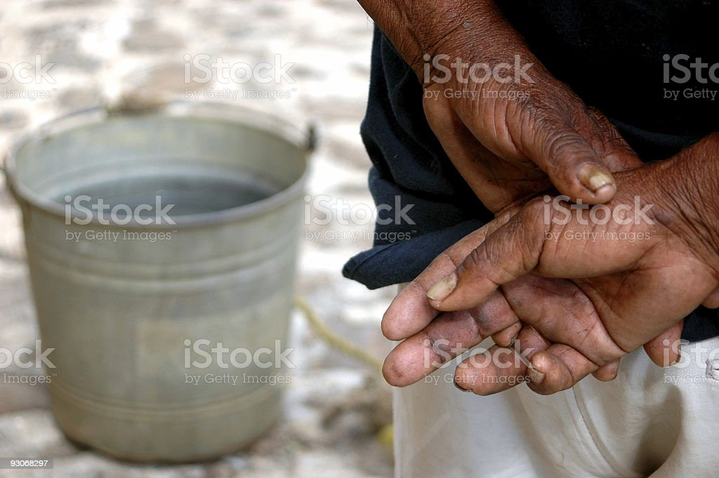 hands which carry water royalty-free stock photo