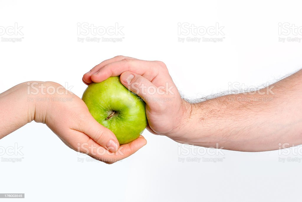 Hands with apple royalty-free stock photo