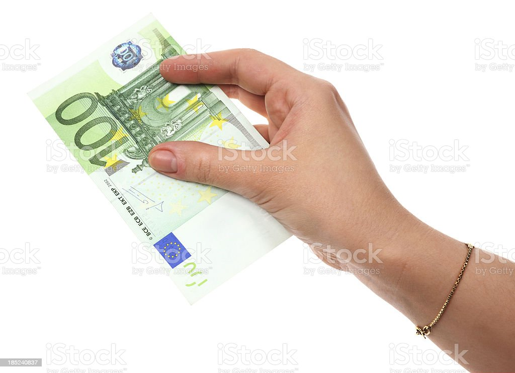 Hands with Euro royalty-free stock photo