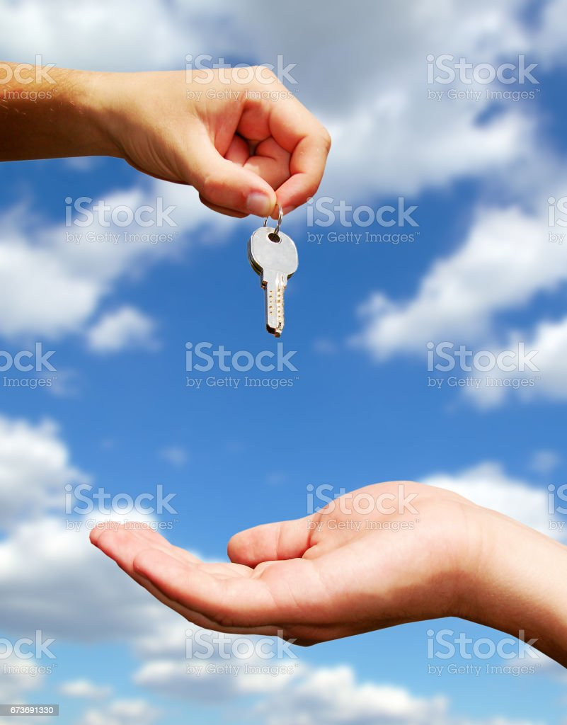 hands with key stock photo
