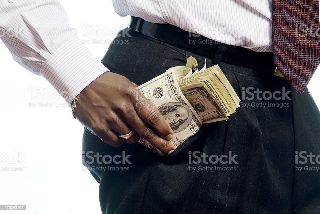Hands with Money Series royalty-free stock photo