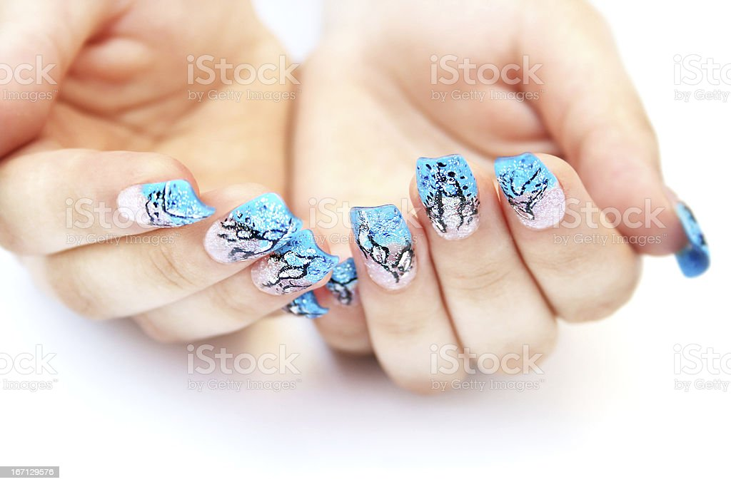 Hands with nail art royalty-free stock photo