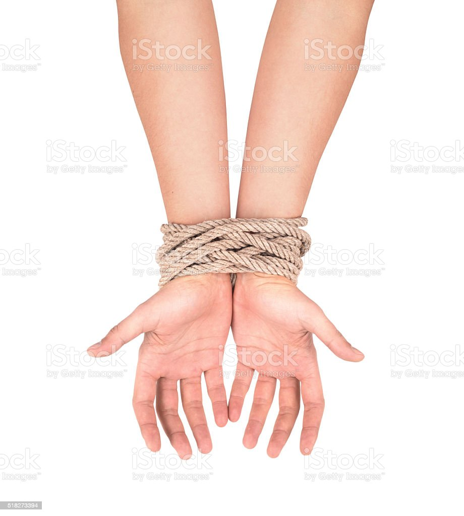 Hands with stock photo