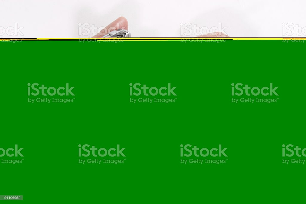 hands with pocket pc royalty-free stock photo