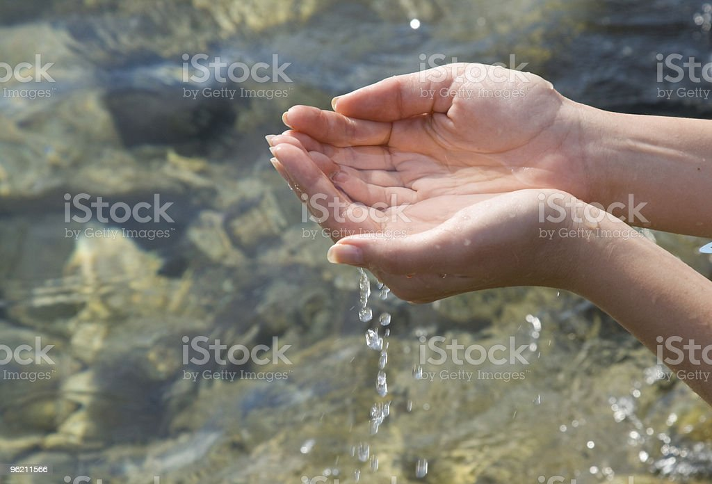 Hands with water royalty-free stock photo