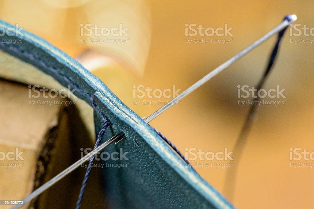 handsewn stock photo