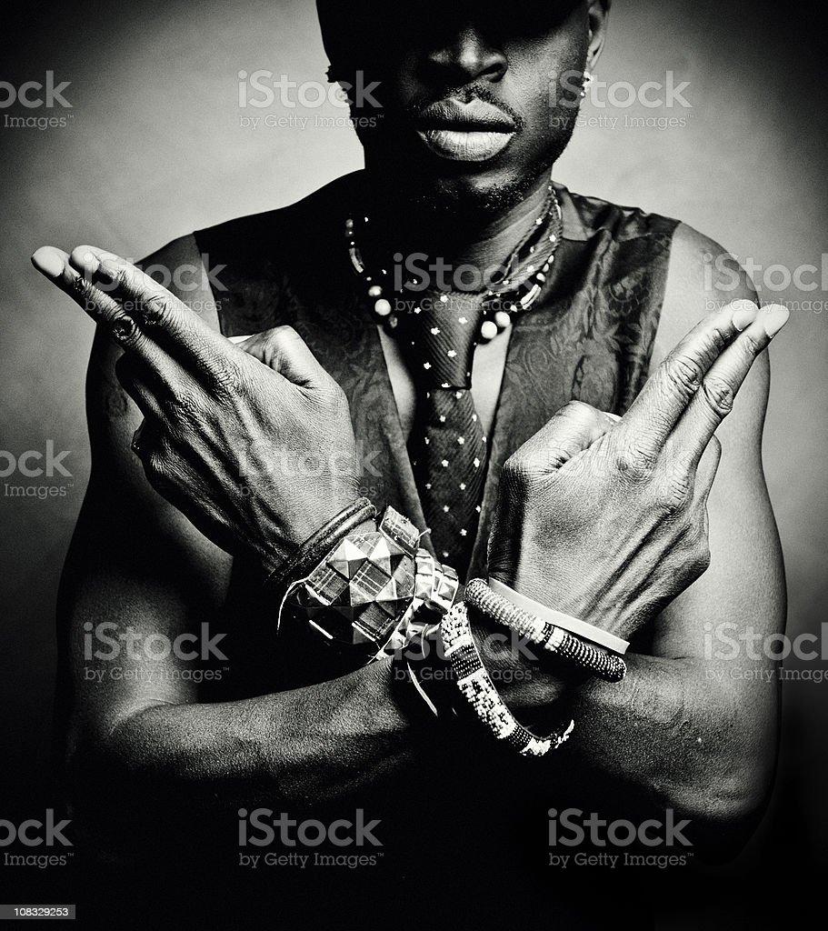 hands/guns stock photo