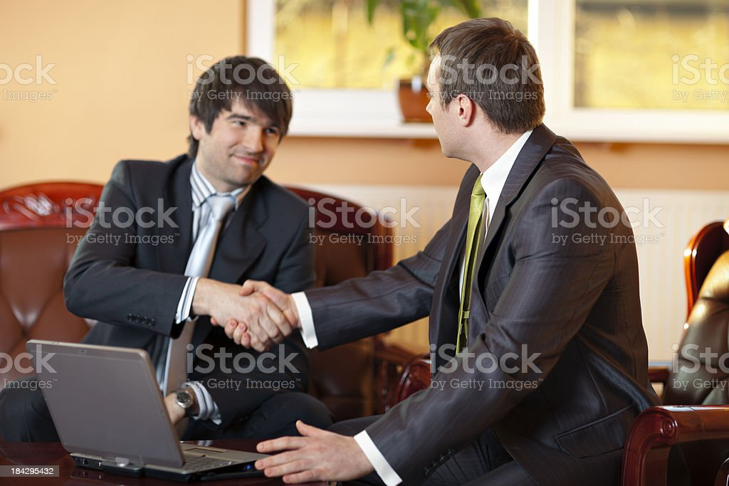Handshake After Making an Agreement royalty-free stock photo