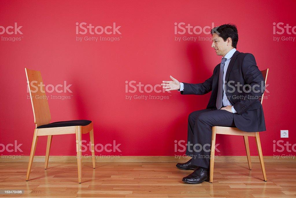Handshake agreement between two businessman royalty-free stock photo