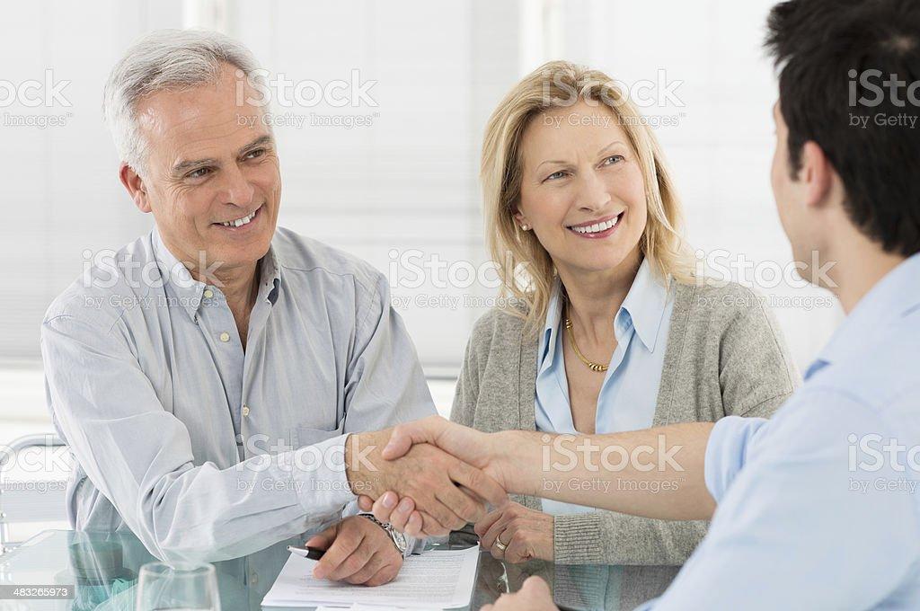 Handshake and agreement stock photo