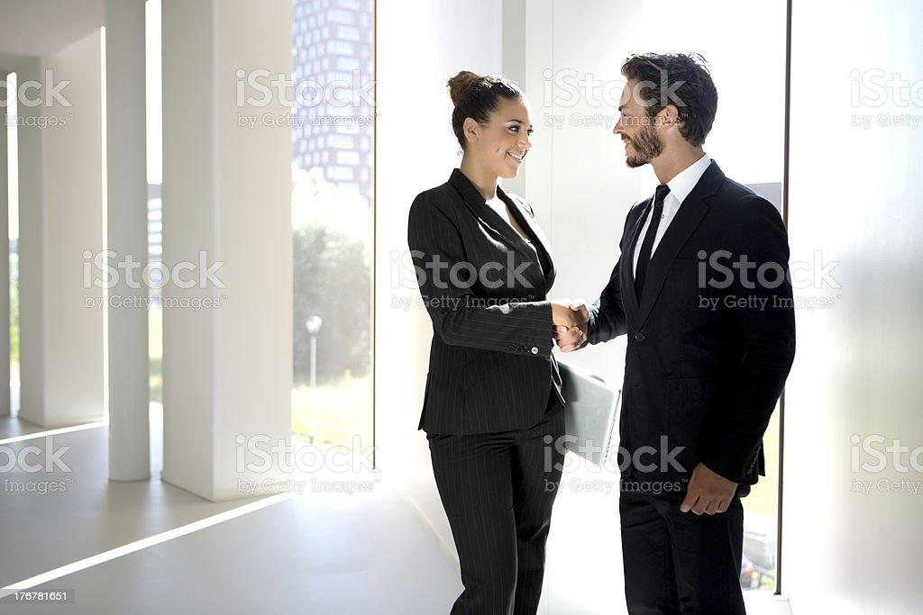 handshake between business people royalty-free stock photo