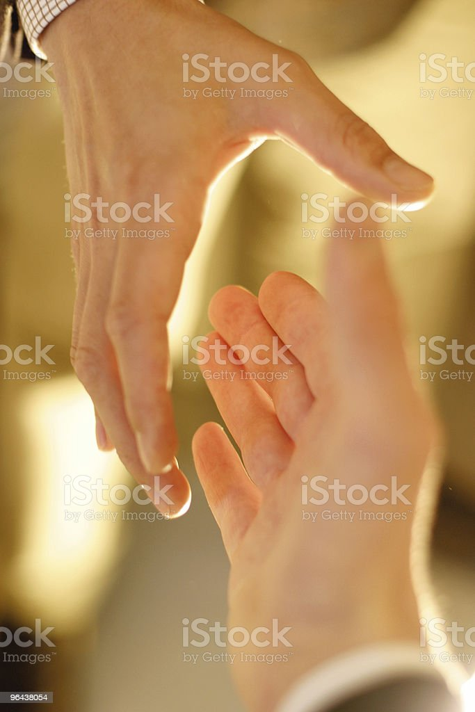 Handshake Closeup royalty-free stock photo