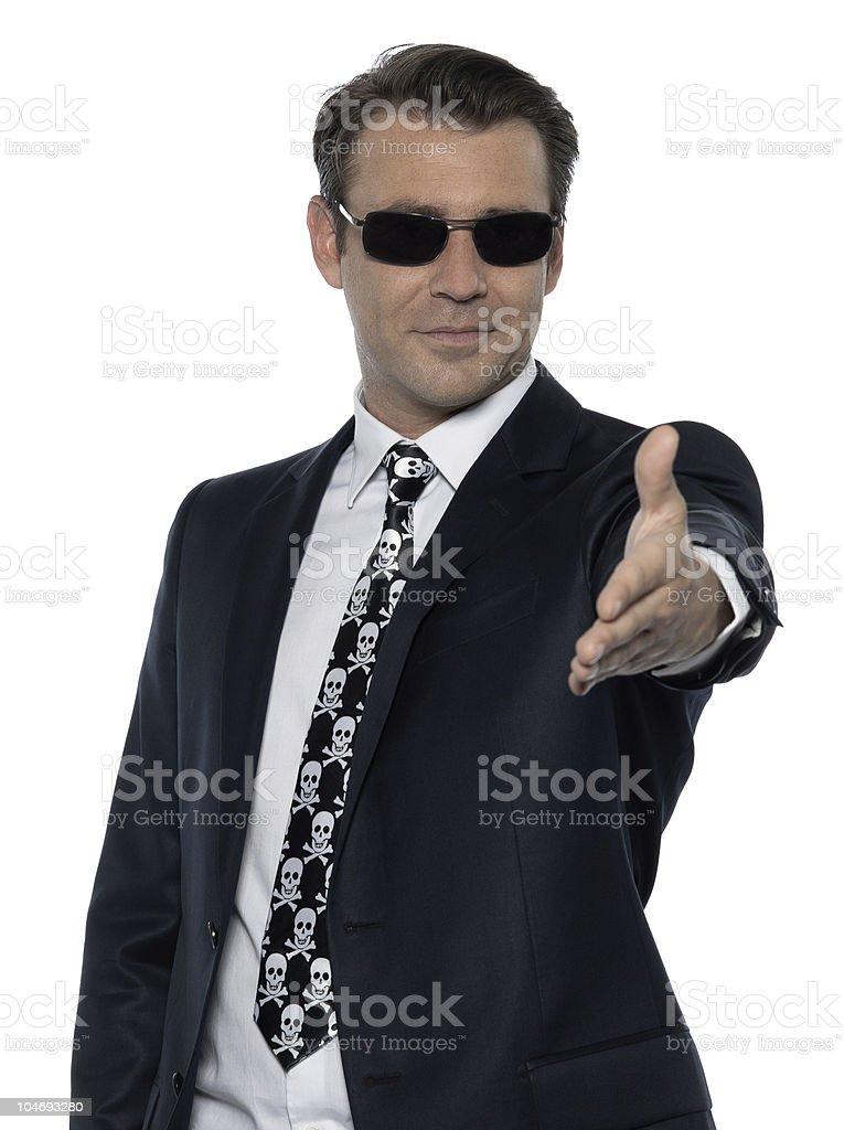 handshake criminal stock photo