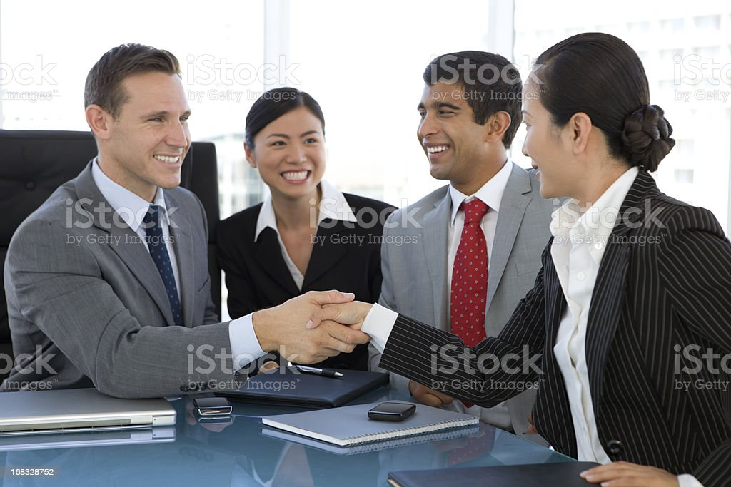 Handshake for a Deal stock photo
