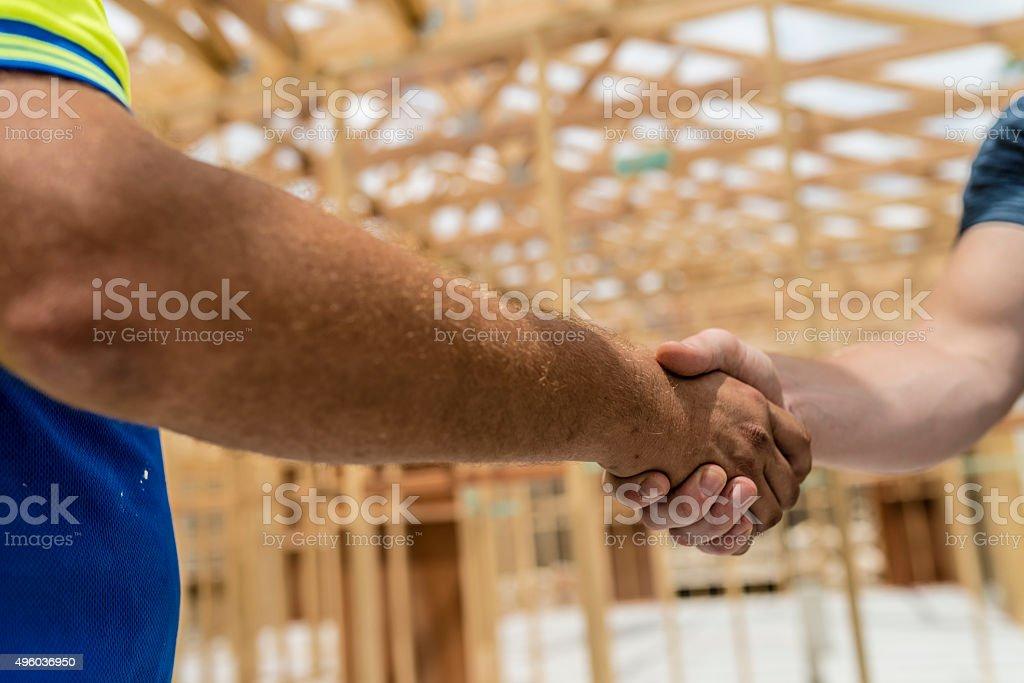 Handshake for new business stock photo