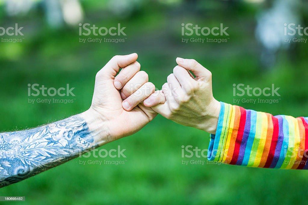 Handshake friendship royalty-free stock photo
