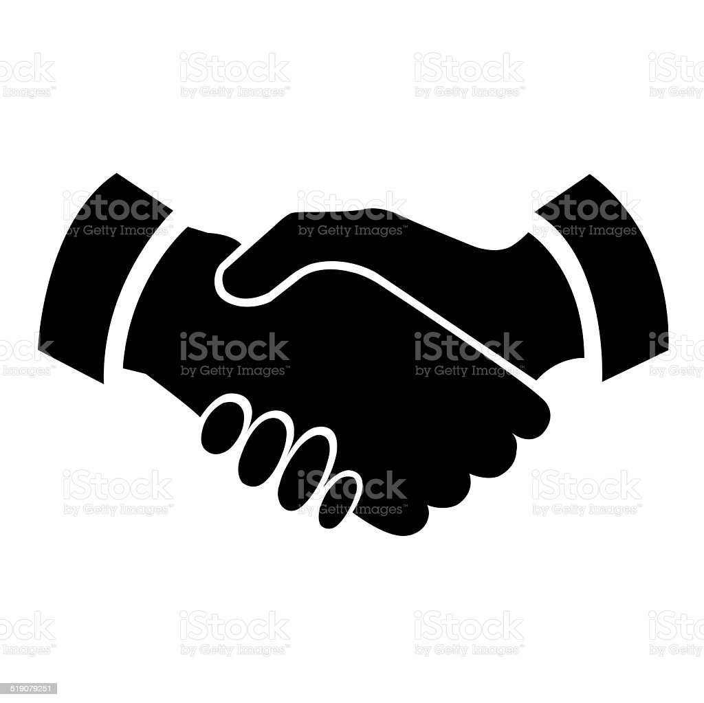 Handshake icon stock photo